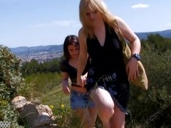 MyFirstPublic - Hardcore outdoor ass fuck with cute blonde