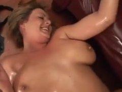 beautiful chubby covered in oil fucking hard