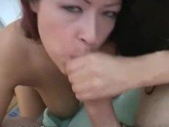 Latina MILF Stroking Blowjob