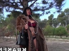 Krakenhot - Outdoor provocation with a hot brunette milf