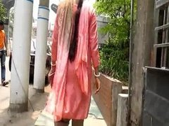 Bangladeshi woman walking