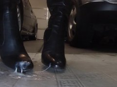 Boots Cummed On