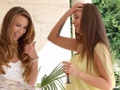 Capri Anderson and Angelina Brill in Check my dress lesbian