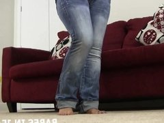 Sit back and let me tease you in my tight skinny jeans JOI
