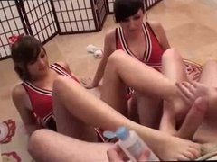 Ultimate Cheerleader Footjob