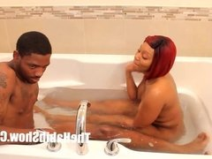 thickred get fucked by bbc stretch bathroom lovin