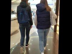 Two talking girls asses