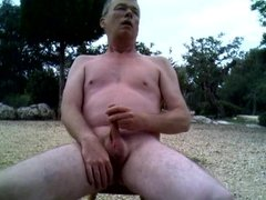 Richard Crowe Naked Wanks and Cums in the Open Air