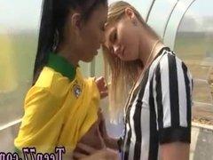 Ebony lesbians eating pussy close Brazilian