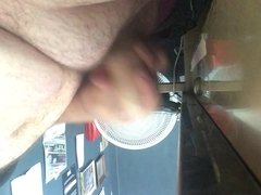 Playing with my uncut cock at my desk at work Part 1