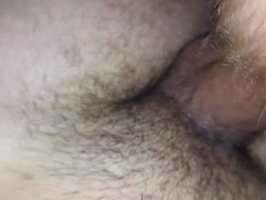 My wife taking stranger cock and creampie in hairy pussy