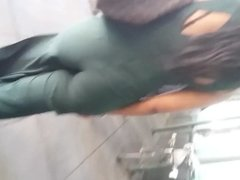 Green Big Booty Outfit Black Woman