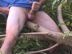 Jack off in the woods