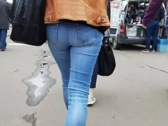 Small ass in blue jeans