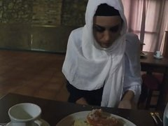 Arab pee Hungry Woman Gets Food and Fuck