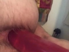 Fucking my gaping asshole with a dildo