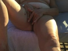 Wanking in the garden. Part 1
