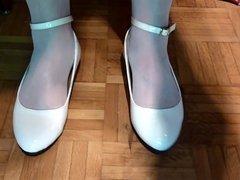 Geile weisse Ballerinas Flats