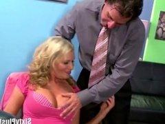Manager catches secretary masturbating