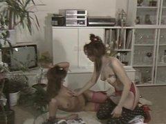 2 german girls lesbian & piss drinking 1989 & brandy canyon
