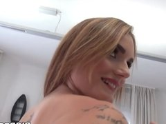 Curvy french babe got assfucked at Rocco's apartment