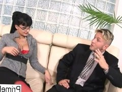 Aletta Ocean gets anally fucked on the couch