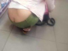 butt crack no panty her hot ass