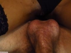 POV Double Ended Dildo Pussy & Anal Fuck with Ebony Babe