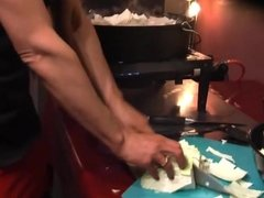 Mature Housewife Is Cooking In 6 inch High Heels