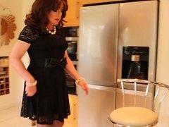 Short black lace dress