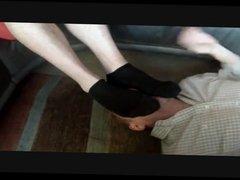 Foot (size 13) worship humiliation