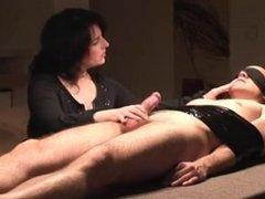 Bondage handjob Queen