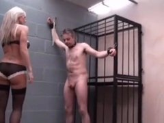 Femdom Extreme cbt on dicklet males