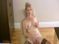 Housewife In Stockings Hardcore Masturbation