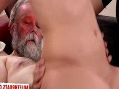 Russian milf blowjob and cumshot