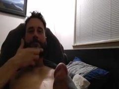 Bearded Stud Cums on Cam