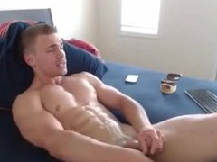 Stud Cums with Cam Electro up his ass