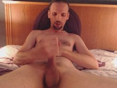 masturbating my cock and big cumshot