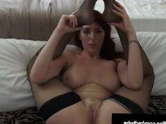 Busty Red Head Lauren Phillips Displays Her Hot Flexibility!