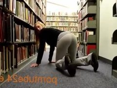 Sex with a student in the library [ HOT ! ]