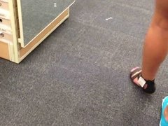 shoe store bend over