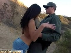 Police outdoor hot muscle girl cops Cute