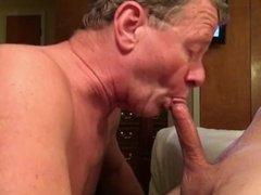 Faggot Takes 6 Cum Facials in a Row; This is Facial #5 of 6