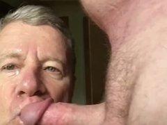 Faggot Takes 6 Cum Facials in a Row; This is Facial 1 of 6