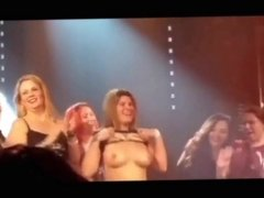 Tits out on stage, more...
