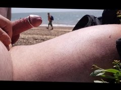 Hard cock for the guys on the beach