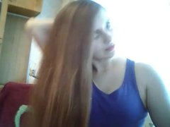 Sexy Very Long Hair Playing, Long Hair, Hair