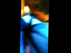 Dick flash close to the face in bus