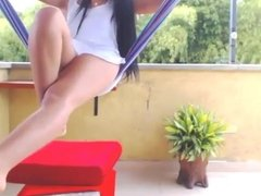 Desi slut Divya's first nude daring on her roof. Want more?