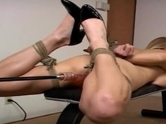 Hogtied And Machine Fucked